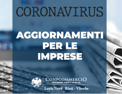CORONAVIRUS – AGGIORNAMENTO PER LE IMPRESE – ACCORDO CIG IN DEROGA